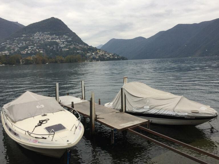 Barche sul Lago di Lugano