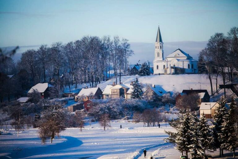Telšiai, Lituania - Veduta invernale