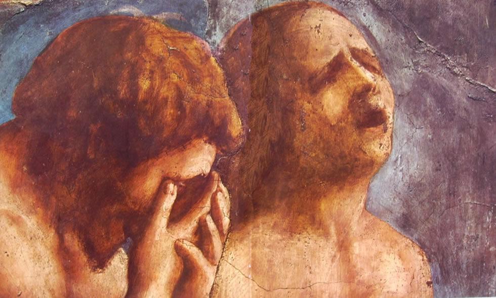 Masaccio - La cacciata di Adamo ed Eva dal Paradiso