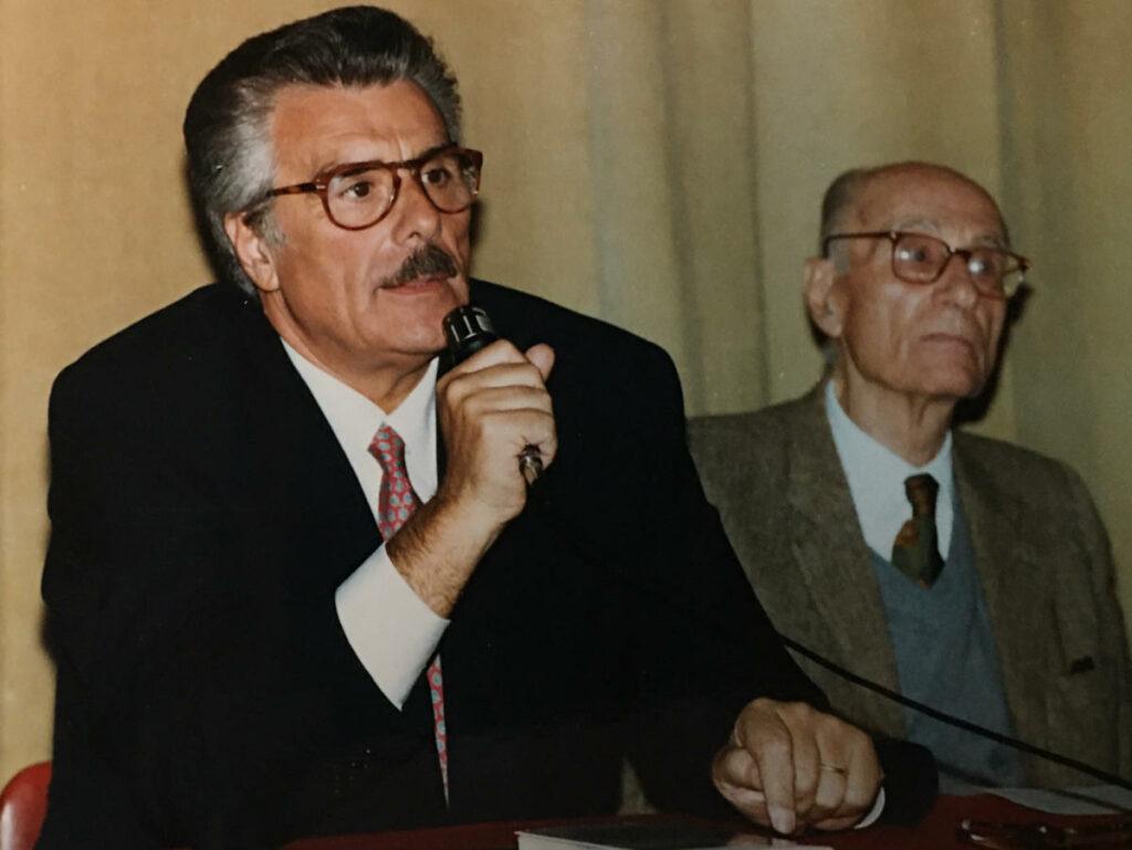 Vincenzo Muccioli con Indro Montanelli
