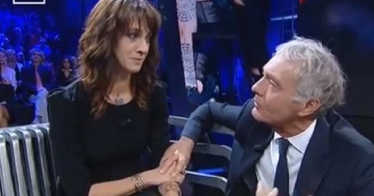 Asia Argento con Massimo Giletti