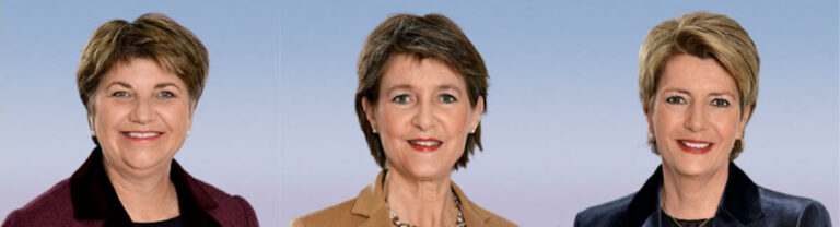 Le signore Consigliere federale (da sin.): Viola Amherd, Simonetta Sommaruga, Karin Keller-Sutter