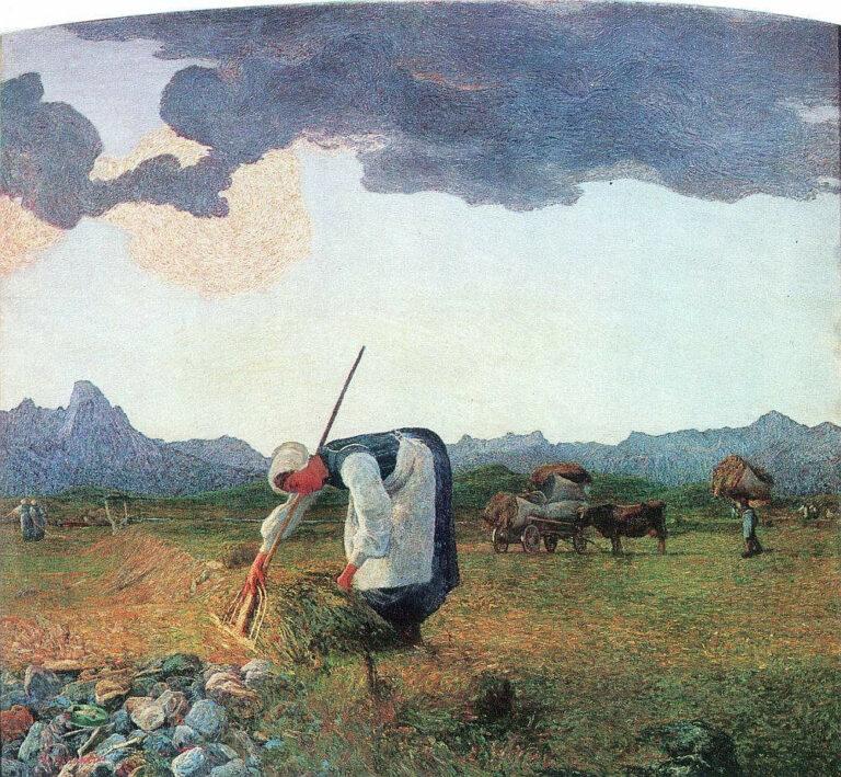 Giovanni Segantini - La raccolta del fieno (1890-1898)