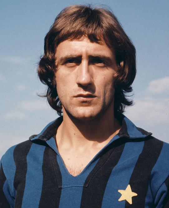 Mauro Bellugi con la maglia dell'Inter in un'immagine del 1973