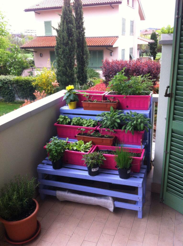 Esempio di orto sul balcone