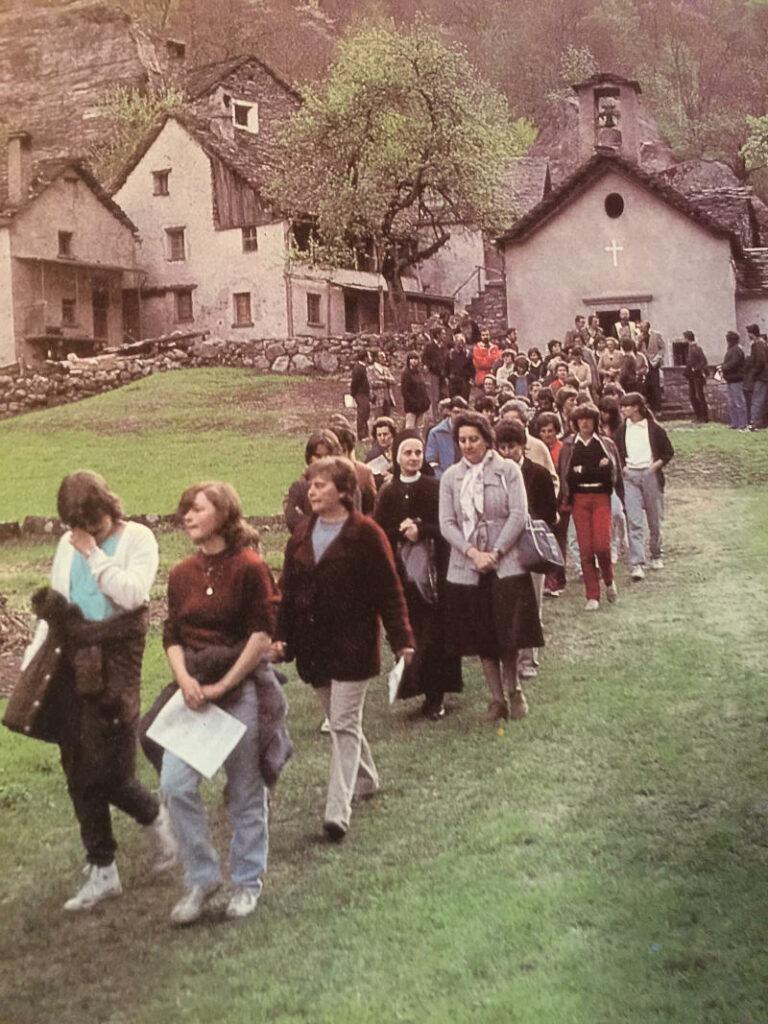 La processione di Gannariente del 1982