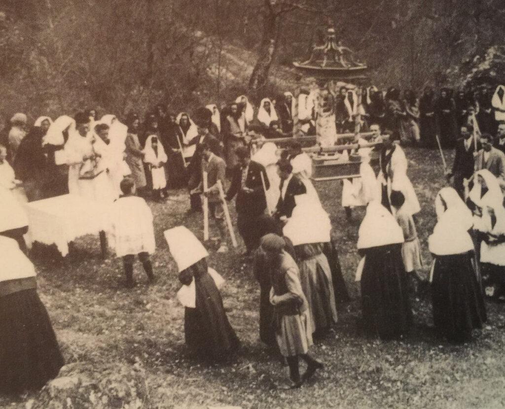 La processione di Gannariente del 1931