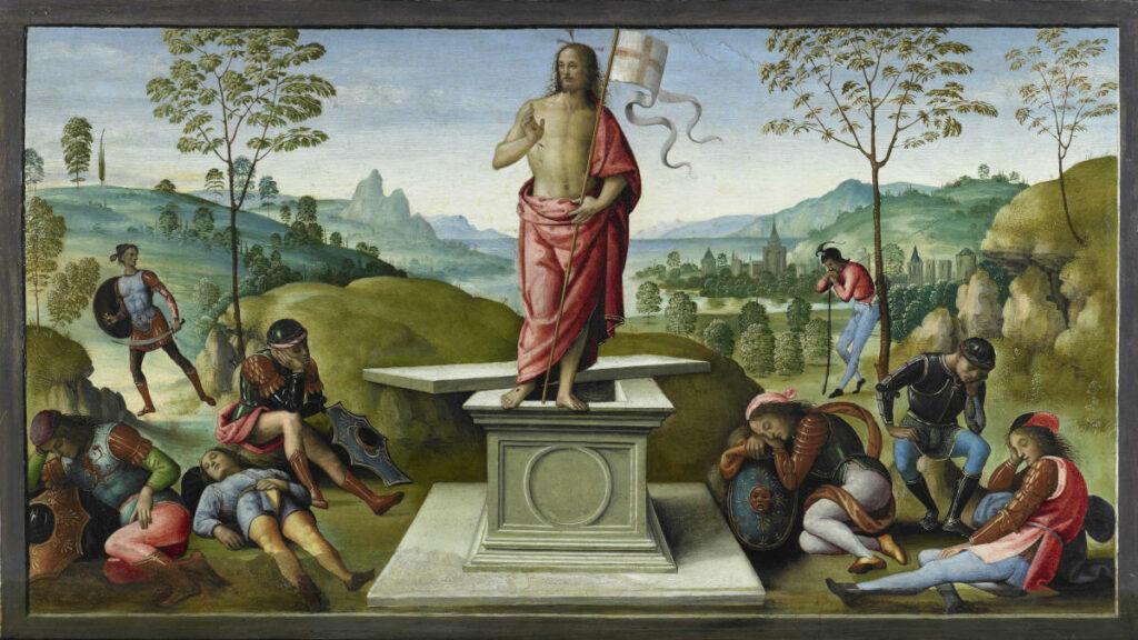 """Perugino, """"La Resurrezione"""" (polittico di San Pietro), 1496-1500"""