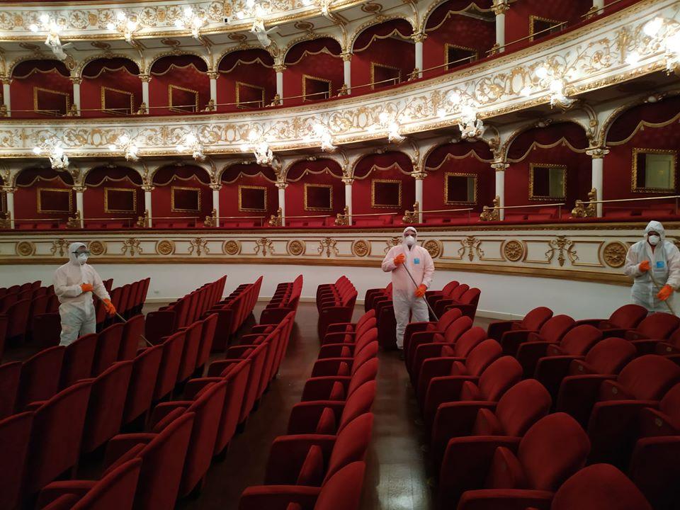 Teatro Petruzzelli di Bari - Disinfestazione anti-covid